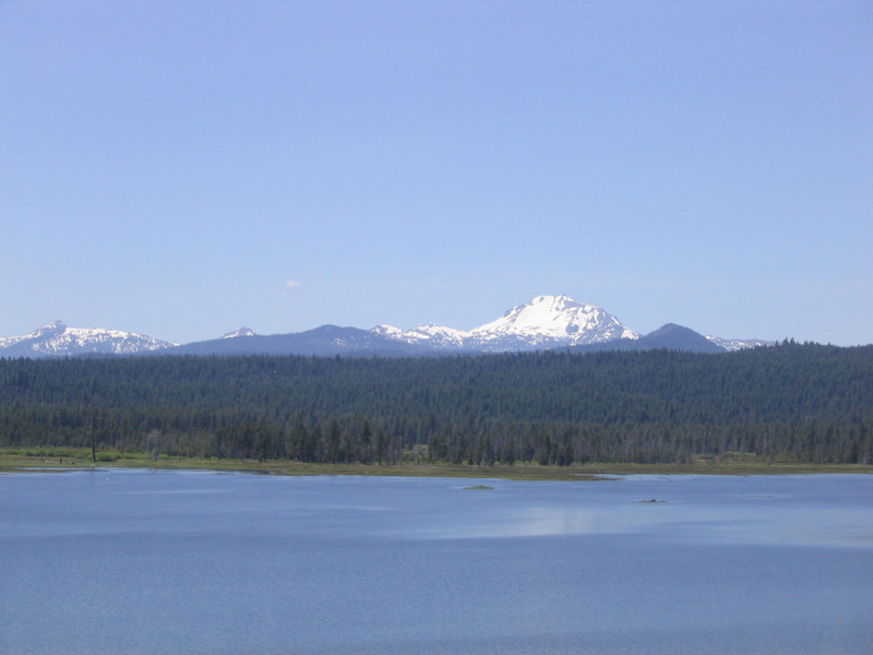 Lake Almanor And Mt Lassen