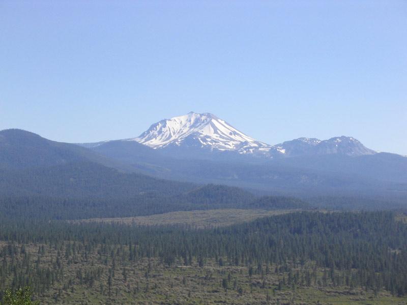 Mt Lassen From Highway 44 Overlook